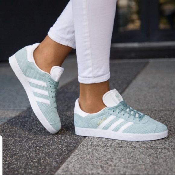 the best attitude 8679e 631fb Adidas GAZELLE Shoes Tactile Green  White